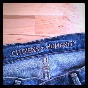 Citizens of humanity jeans lowrise straight leg
